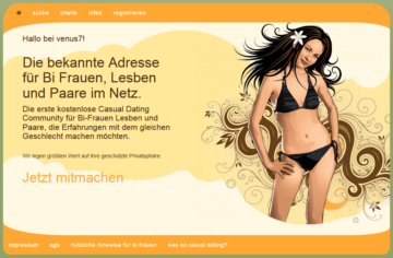 Venus7 - Casual Dating für Lesben & Paare